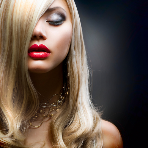 Blond Hair.Beautiful Woman Portrait.Hairstyle