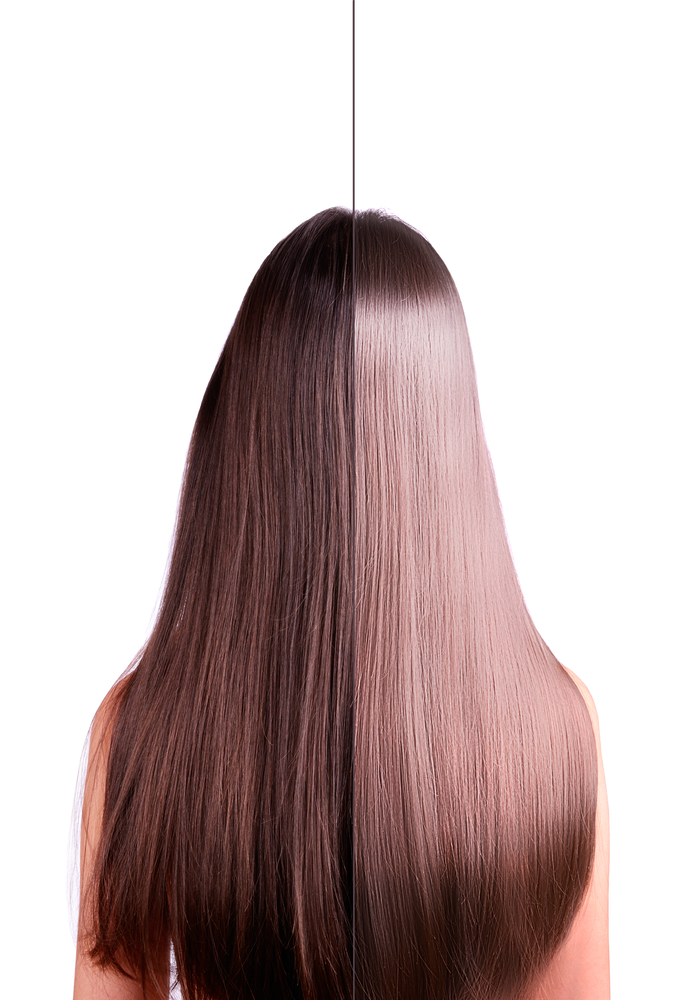 2 in 1 hair straightening before and after